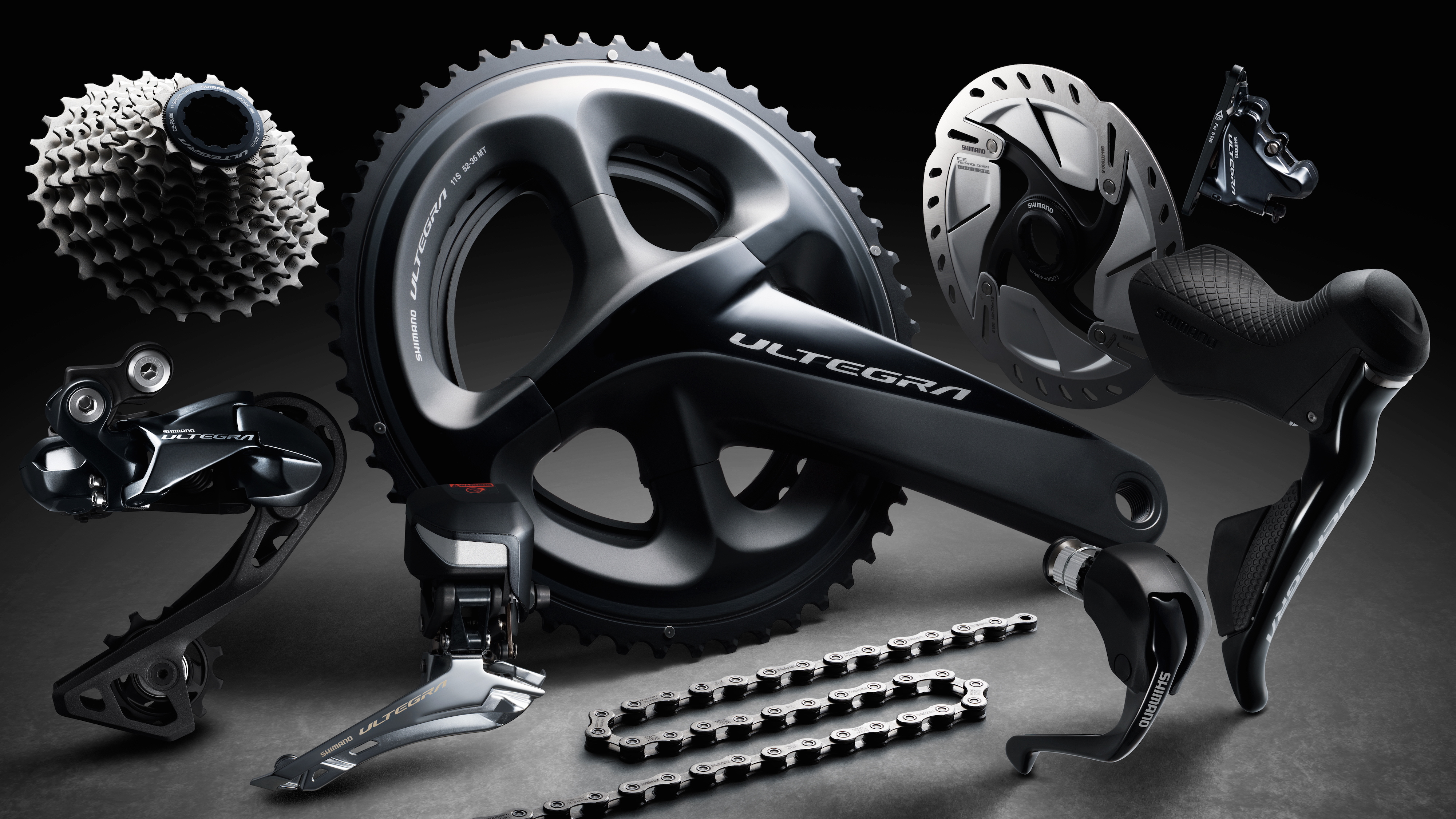 New Shimano Ultegra R8000 groupset includes disc brakes and synchronised electronic shift ...