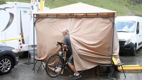 Chris Froome bike is checked for a motor on Stage 9 of the 2016 Tour de France